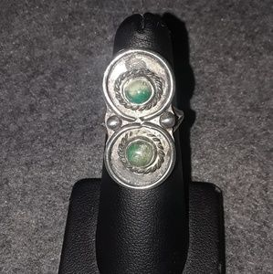 Vintage native turquoise sterling silver ring